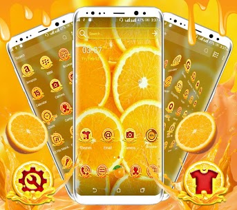 Orange Launcher Theme 1.2 Mod + APK + Data UPDATED 3