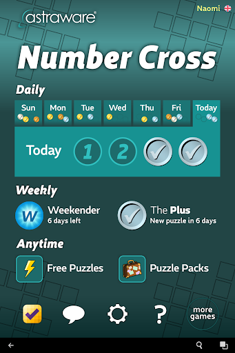 Astraware Number Cross 2.58.000 screenshots 7