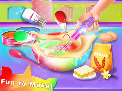 Rainbow Unicorn Cake Maker – Kids Cooking Games Screenshot