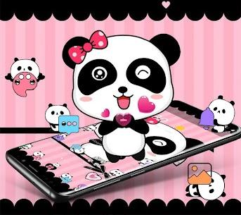 Pink Cute Bowknot Panda Theme 1.1.3 (MOD + APK) Download 1