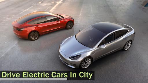 Electric Car Simulator 2021: City Driving Model X Apkfinish screenshots 15