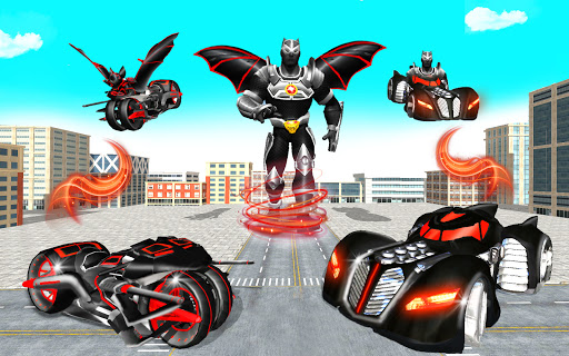 Flying Bat Robot Games: Superhero New Game 2021 screenshots 13
