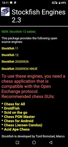 Stockfish Engines OEX  screenshots 1