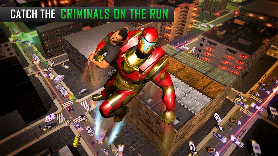 Captura de Pantalla 16 de Robot volar Grand City Rescate para android