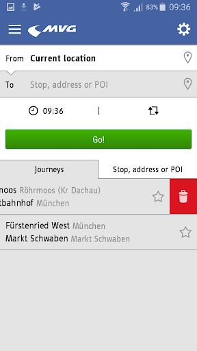 MVG Fahrinfo München  screenshots 2