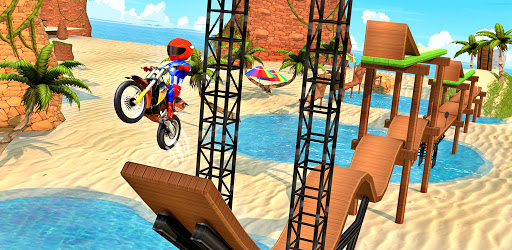 Bike Beach Game: 3D Stunt & Racing Motorcycle Game  screenshots 8