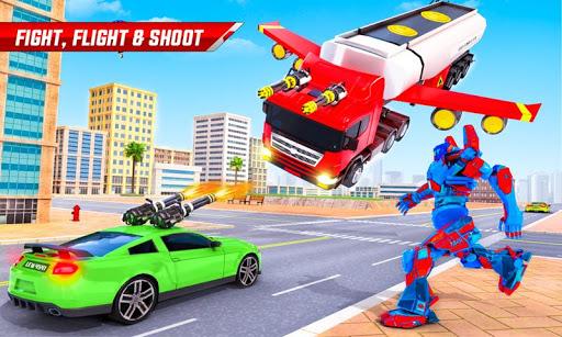 Flying Oil Tanker Robot Truck Transform Robot Game 33 Screenshots 3