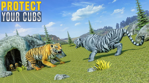 Virtual Tiger Family Simulator: Wild Tiger Games android2mod screenshots 7