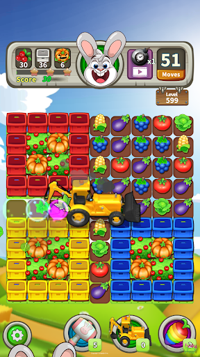 Farm Raid : Cartoon Match 3 Puzzle  screenshots 2