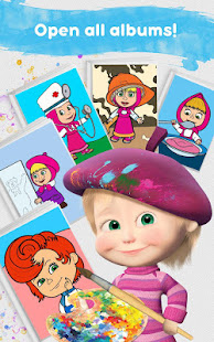 Masha and the Bear: Free Coloring Pages for Kids