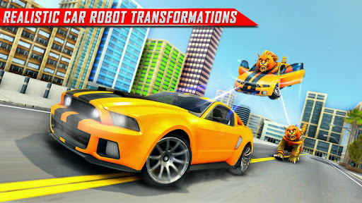 Lion Robot Car Transforming Games: Robot Shooting 1.8 Screenshots 14