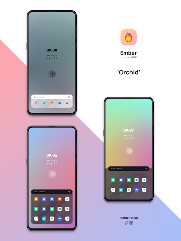 Ember for KLWP  poster 3