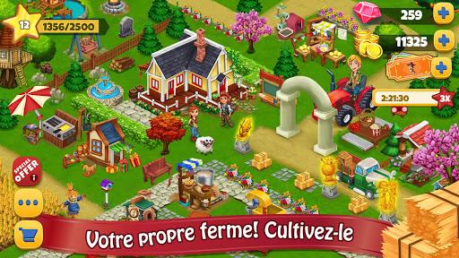 Télécharger gratuit Jour Farm Village: Agriculture Jeux hors ligne APK MOD 1
