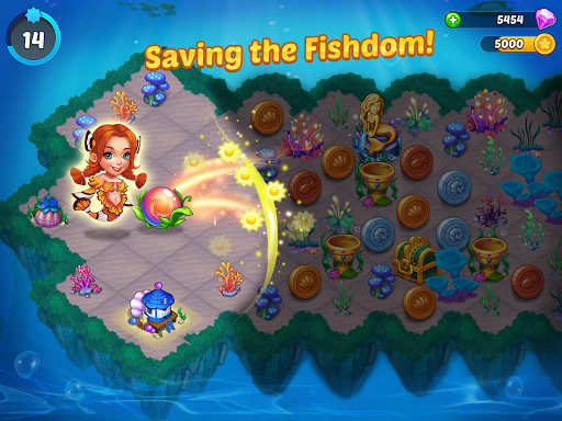 Merge Mermaids-design home&create magic fish life. 1.0.8 screenshots 12