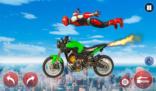 New Crazy Rope Spider Girl Bike Stunts Master 2021 screenshots 3