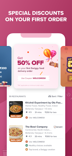 Swiggy Food Order | Online Grocery | Delivery App android2mod screenshots 1