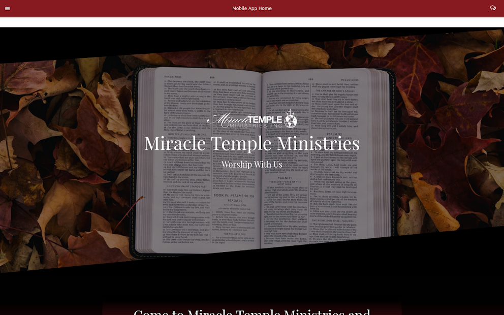 Miracle Temple Ministries screenshot 1