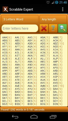Word Expert (for SCRABBLE) screenshots 5