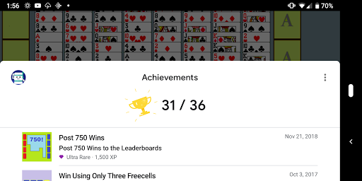 FreeCell with Leaderboards  screenshots 4