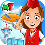 My Town : Airport. Free Airplane Games for kids