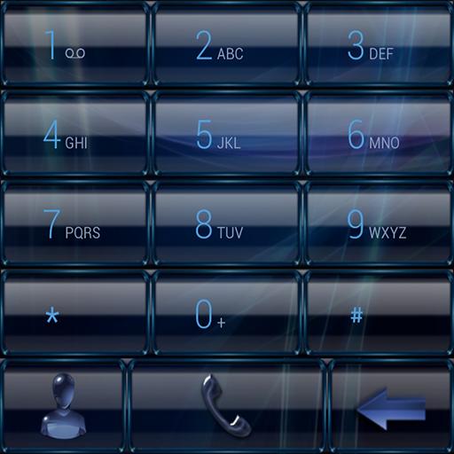 Dialer GlassMetalFrameBlue For PC Windows (7, 8, 10 and 10x) & Mac Computer