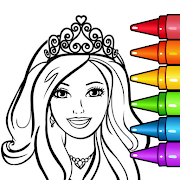 Princess Glitter Coloring Book and Girl Games