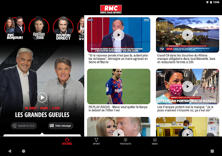 RMC ud83cudf99ufe0fInfo et Foot en direct - Radio & Podcast 7.5.3 APK screenshots 14
