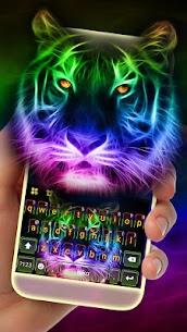 Neon Tiger Keyboard Theme 3