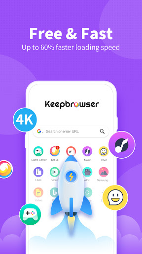 KeepBrowser: Fast & private, HD video downloader Apk 1.5.0 screenshots 2