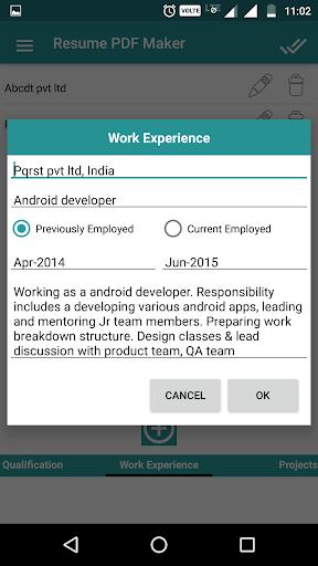 Resume PDF Maker / CV Builder 1.20 Screenshots 6