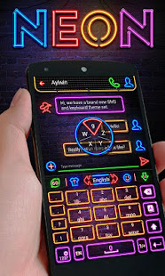 Neon GO Keyboard Theme & Emoji