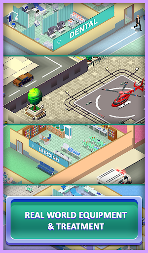 Idle Mega Hospital Tycoon - Hospital Builder Game modavailable screenshots 4