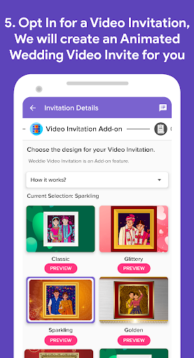 Weddie - Free Wedding Websites & Video Invitations 1.5.6 Screenshots 5