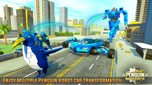 Penguin Robot Car Game: Robot Transforming Games 5 Screenshots 16