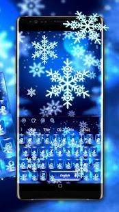 Crystal Winter Snowflake Keyboard