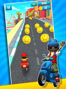 Subway Scooters Free -Run Race Screenshot