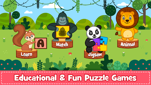 Animal Puzzle for kids - Preschool Learning Games  screenshots 1