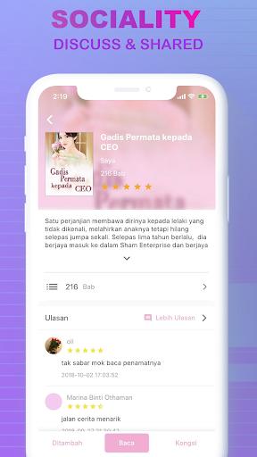 Code Triche LovNovel -  Melayu & Indonesian Novel (Astuce) APK MOD screenshots 3