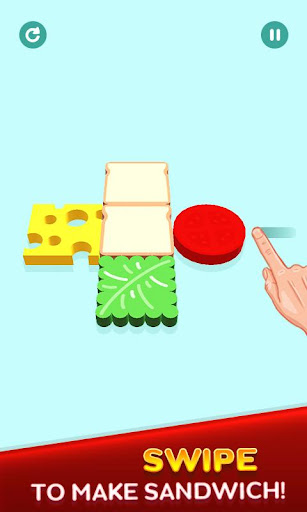 Perfect Sandwich Folding Puzzle Master android2mod screenshots 1