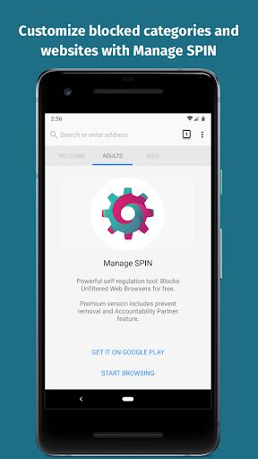 spin safe browser: best filtered website browser screenshot 2