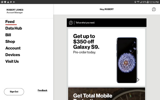 My Verizon Mobile for Tablets  screenshots 1