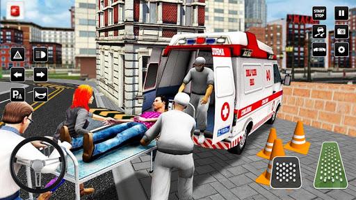Heli Ambulance Simulator 2020: 3D Flying car games  screenshots 9