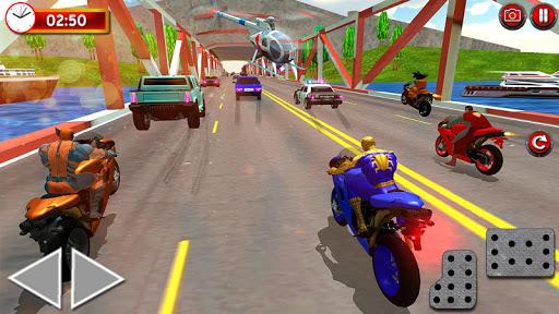 Superheroes Traffic Line Rider apkmr screenshots 3