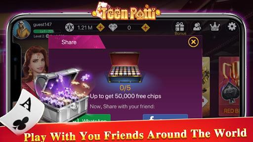 Teen Patti Tour - 3 Patti Indian Poker Card Game 1.1.2 screenshots 4