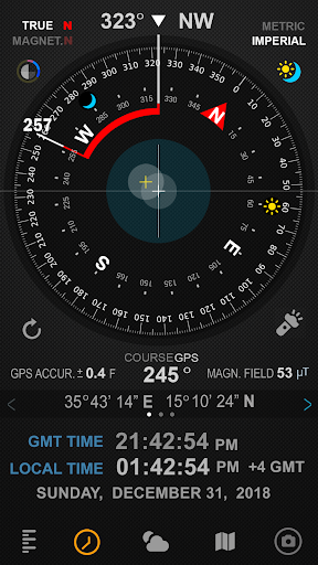 Download APK: Compass 54 (All-in-One GPS, Weather, Map, Camera) v2.9 [Mod Extra]