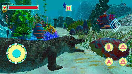 Underwater Crocodile Simulator u2013 Crocodile Games 1.3 screenshots 6