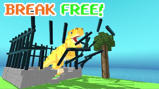 Blocky Dino Park: T-Rex Rampage APK MOD – Pièces de Monnaie Illimitées (Astuce) screenshots hack proof 1