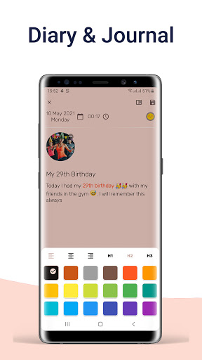 Daynote - Diary, Journal, Private Notes with Lock screenshots 2