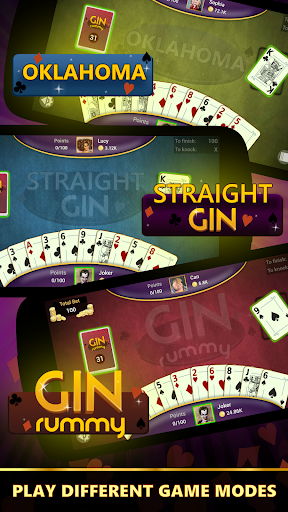 Gin Rummy - Offline Free Card Games apkpoly screenshots 2