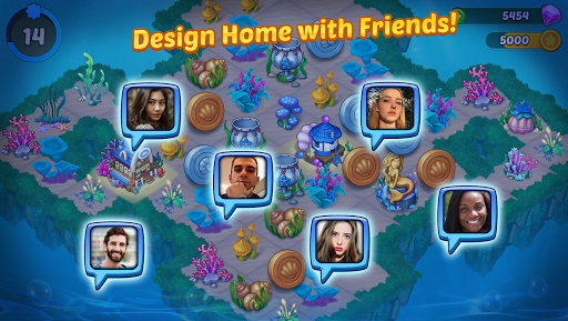Merge Mermaids-design home&create magic fish life. 1.0.8 screenshots 5